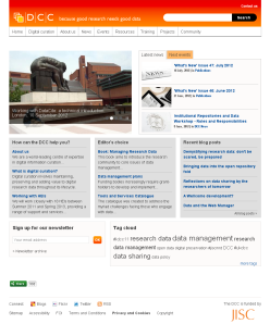 Digital Curation Centre home page