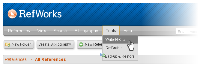 New ProQuest RefWorks
