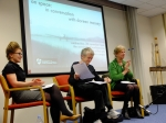 Lisa Robertson, Doreen Massey and Professor Janet Wilson in conversation.