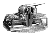 Hoe's one cylinder printing press