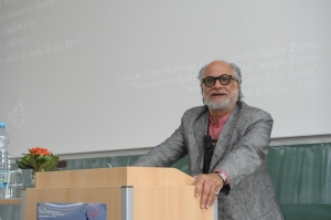 Professor Homi Bhabha at the CoHaB conference.