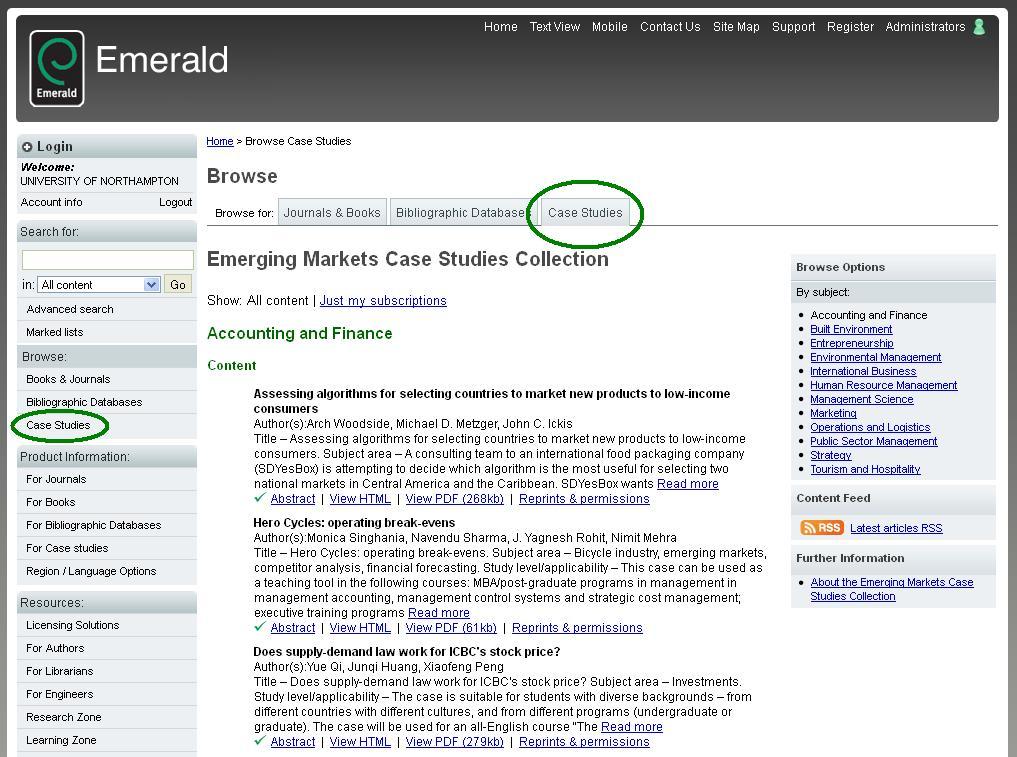 database case studies