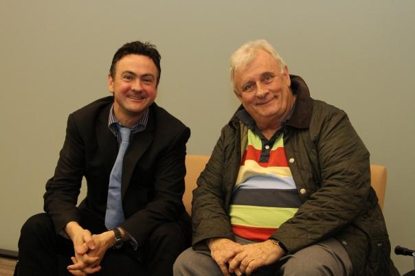 Professor Richard Canning and Professor Edmund White (Photo: Richard Byles)