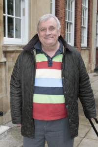 Professor Edmund White outside the Newton Building