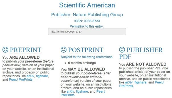 rchive.it results for Scientific American