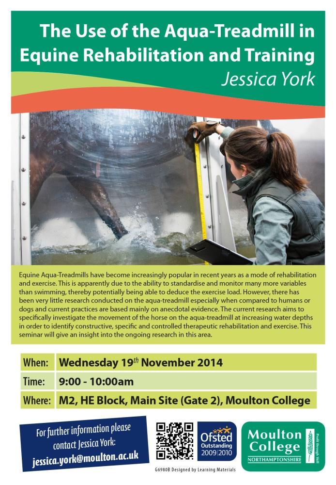 Jessica York's Transfer Seminar: Equine Aqua-Treadmills