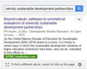 Scholar extension open access link