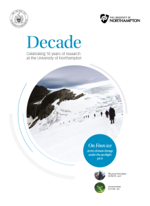 Decade: celebrating ten years of research at the University of Northampton
