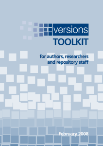 Versions Toolkit Cover