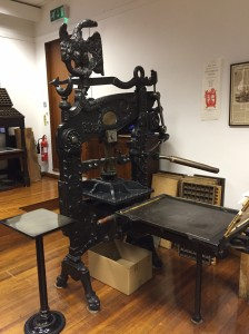 Early printing press at St Bride Foundation